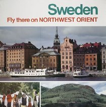 Image of Sweden Fly There on Northwest Orient - ca. 1970s