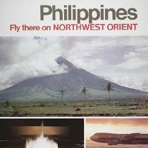 Image of Philippines Fly There on Northwest Orient Poster