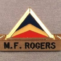 Image of Delta Agent Uniform Name Badge - 1976-1980s