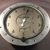 Image of Inland Air Lines Cabin Altimeter - ca. 1936-1943