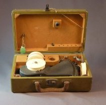 Image of Western Air Express Sextant, open case