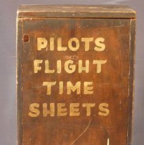 Image of Pilots Flight Time Sheets Collection Box, front