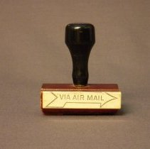 Image of Western Airlines Via Air Mail Rubber Stamp -