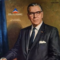 Image of C.E. Woolman painting on cover of Delta Digest magazine, May 1965