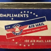 Image of Delta Air Mail Label Book - ca. 1940s
