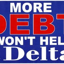 Image of More Debt Won't Help Delta Rally Sign
