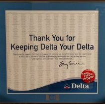 Image of Thank You for Keeping Delta Your Delta