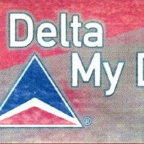 Image of Keep Delta My Delta! Decal color enhanced and rotated view