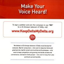 Image of Make Your Voice Heard! Keep Delta My Delta! Poster