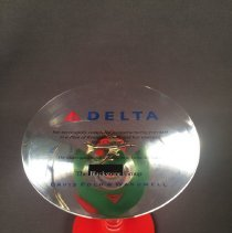 Image of Delta Martini Glass Commemorative - 2007