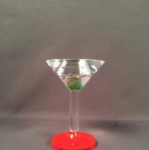 Image of Delta commemorative item, plastic martini glass