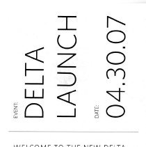 Image of Delta Launch Kit, 4/30/2007, boarding pass