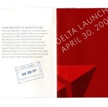 Image of Delta Launch Kit, 4/30/2007, passport booklet, page 1
