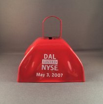Image of DAL Listed NYSE May 3, 2007 Commemorative Cowbell - 05/03/2007