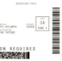Image of Delta Emerge April 30-May 4, 2007 Booklet copy 1 cover boarding pass