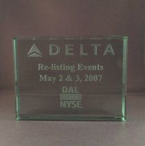 Image of DAL Listed NYSE Re-Listing Events May 2 & 3, 2007 Plaque  - 05/2007