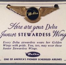 Image of Delta Junior Stewardess Kiddie Wings - 1958
