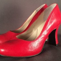 Image of Virgin Atlantic Cabin Crew and Ground Agents Uniform High Red Shoe - 2014