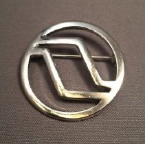 Image of Northwest Orient Stewardess Uniform Hat Badge - 1969-1974