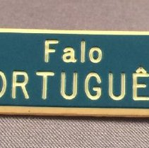 Image of Pan American Flight Attendant Portuguese Language Pin - ca. 1980s