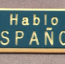 Image of Pan American Flight Attendant Spanish Language Pin