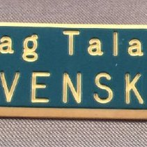 Image of Pan American Flight Attendant Swedish Language Pin