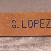 Image of Pan American Agent Uniform Name Badge