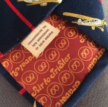 Image of Delta 50th Anniversary Commemorative Necktie, lining and label