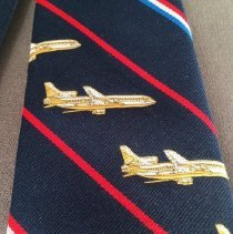 Image of Delta 50th Anniversary Commemorative Necktie, Lockheed L-1011 detail