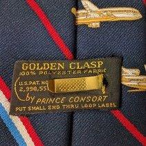 Image of Delta 50th Anniversary Commemorative Necktie, clasp