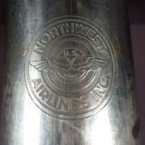Image of Northwest Airlines Thermos, logo