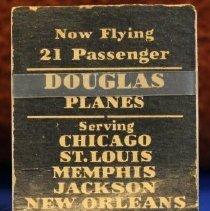 Image of C&S DC-3 Stewardess Matchbook, inside