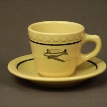 Image of Western Air Lines Restaurant Coffee Cup and Saucer