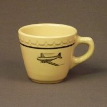 Image of Western Air Lines Restaurant Coffee Cup - 12/1946