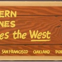 Image of Western Air Lines Flies the West Sign - ca. 1950-1957