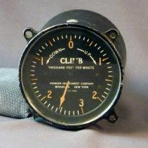 Image of Western Airlines Altimeter, front