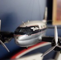 Image of Delta Curtiss C-46, N9884F Ship 104, Air Freighter Model Airplane - ca. 1970s
