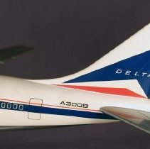 Image of Delta Airbus A300B Model Airplane
