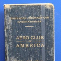 Image of Fédération Aéronautique Internationale Aero Club of America Aviator's Certificate -