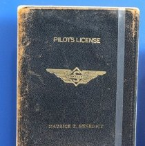 Image of Maurice T. Benedict's Pilot's License Cover - ca. 1930s