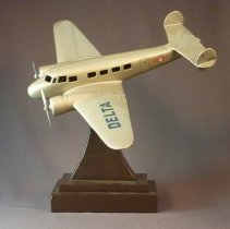Image of C.E. Woolman's Delta Lockheed 10 Electra Model Airplane - ca. 1930s