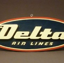 Image of Delta Flying D Logo Sign