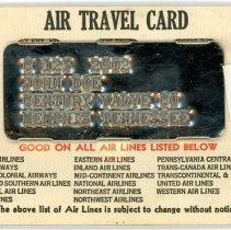 Image of Sample of Air Travel Card, valid 1941-1942, side 2