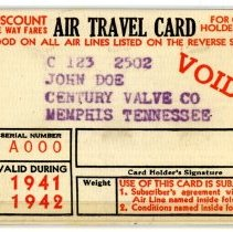 Image of Air Travel Card - 1941-1942