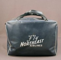Image of Fly Northeast Airlines Flight Bag - ca. 1950s