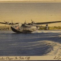 Image of P.A.A. Yankee Clipper In Take Off, La Guardia Field