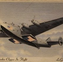 Image of P.A.A. Yankee Clipper In Flight, La Guardia Field - ca. 1939