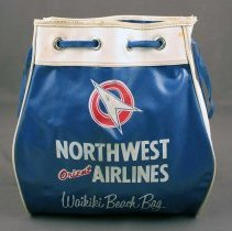 Image of Northwest Orient Waikiki Beach Bag - ca. 1948