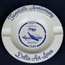 Image of Delta Twentieth Anniversary Ashtray - 1949