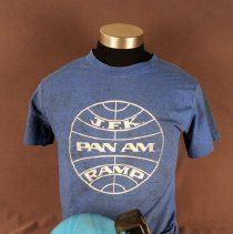 Image of Pan Am Ramp Agent Uniform Earmuff, T-Shirt, and Hard Hat
